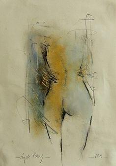 """Angela Fusenig, """"Akt-5"""" Mit einem Klick auf 'Als Kunstkarte versenden' versenden Sie kostenlos dieses Werk Ihren Freunden und Bekannten."""