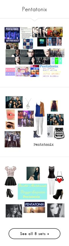 """""""Pentatonix"""" by music-dancer-kpopper5678 ❤ liked on Polyvore featuring art, Free People, Frame, City Chic, Barbara Bui, Charlotte Tilbury, Due Soli, plus size clothing, Paige Denim and H&M"""