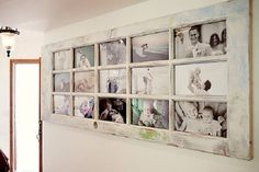 6-usa veche din lemn transformata intr-o rama foto vintage supradimensionata