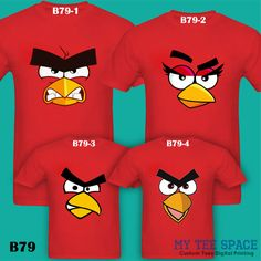 Resultado de imagen para ANGRY BIRDS PARTY SHIRTS DAD MOM