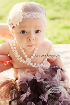 5 month baby girl; Tutu and pearls; Wendi Lois Photography Mesa,Az