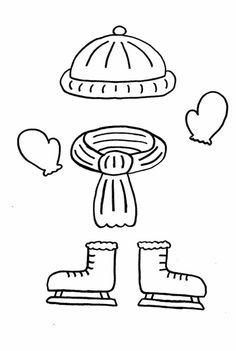 Shoes Ice Skating Coloring Page | Ice Skating | Sports ...
