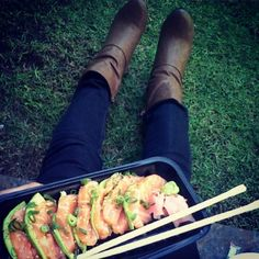 Yummy boots -  salmon lover's  ♡  #sushi