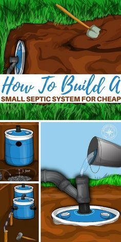 How To Build A Small Septic System For Cheap — Knowing how to safely and efficiently get rid or process your own waste is vital for survival. If you do not you could be headed to some really nasty medical problems. Homestead Survival, Wilderness Survival, Camping Survival, Survival Prepping, Emergency Preparedness, Survival Skills, Survival Hacks, Survival Gear, Survival Shelter