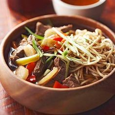 Teriyaki Beef-Noodle Soup From Better Homes and Gardens, ideas and improvement projects for your home and garden plus recipes and entertaining ideas.