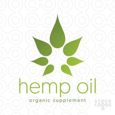 Exclusive Customizable Logo For Sale: Hemp Oil Organic Supplement | StockLogos.com