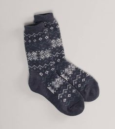 Fuzzy Socks with Cute Snowflakes