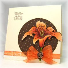 IC323 Orange Lily by bfinlay - Cards and Paper Crafts at Splitcoaststampers
