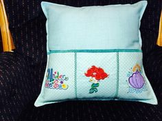 Under The Sea Pillow with Mermaid Princess for Remote Controls, phones, controllers