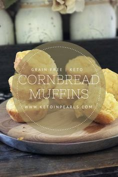 These grain free muffins are just as good as real cornbread! At only 1.2 net carbs per serving, your soup and chili won't be lonely this fall! Keto & GF!