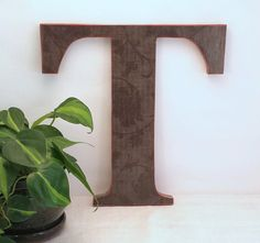Letter T   Rustic Wall Letter  Wood Letter Wall Decor  Wood