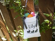Stenciled Tote Bag in 20 Unconventional Easter Basket Ideas from HGTV