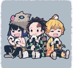 Its a fact that anything chibi is immediately a top tier drawing.ESPECIALLY if its demon slayer. Anime Chibi, Naruto Chibi, Chibi Bts, Manga Anime, Kawaii Chibi, Demon Slayer, Slayer Anime, Otaku Anime, Anime Guys