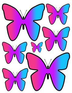 Rainbow Butterfly wall decals teen girls room decor for the Hot New Rainbow Theme look. Bright, vivid colors. Teen, kids, and nursery baby room wall art stickers. Designed with your child in mind. #decampstudios http://www.etsy.com/shop/decampstudios
