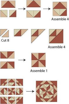 All Hallows Quilt Block Pattern/ Gives step by step lay out of block