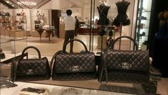 Chanel Small Coco Handle Bag in Black Grained Calfskin with Black ... 6484f6a5d1