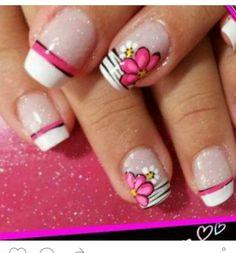 Vɨʋɨaռa Manicure, Mani Pedi, Creative Nail Designs, Creative Nails, Spring Nail Art, Spring Nails, Flower Nail Designs, Nail Photos, New Nail Art