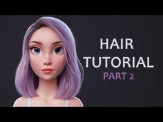 Blender Hair Tutorial Part 1 (styling the hair) -  Music Videos Watch Online