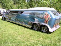 WTF Wednesday with mini/regular ish Vans: part 2 Photos) Customised Vans, Custom Vans, Brush Truck, Limo Ride, Old School Vans, Custom Airbrushing, Chevy Van, Cool Vans, Rv Interior