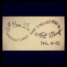 tattoo | Tumblr philipians 3:13 instead