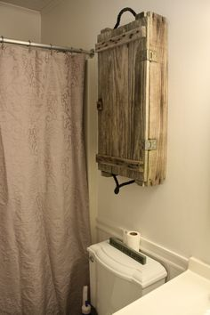 Maybe not over the toilet but that's a neat shelf/cabinet idea @Kat Ellis Proctor