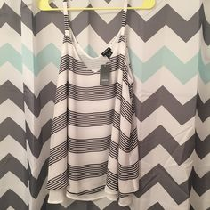 NWT Torrid V Neck White Flowy Tank Top Size 1X NWT Torrid V Neck White Flowy Tank Top Size 1X. 100% Polyester. Comes from a smoke free home. Let me know if you have any questions! torrid Tops Tank Tops