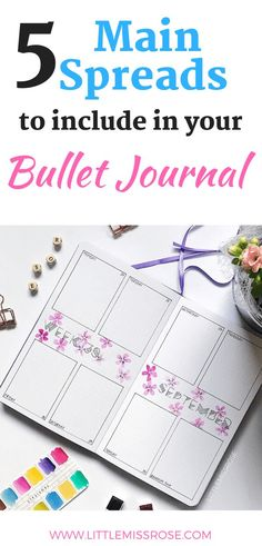 The 5 Main Spreads to Include in your Bullet Journal | Little Miss Rose