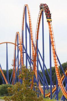 Roller coaster in Canada's wonderland theme park