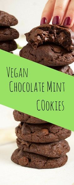Vegan Chocolate Mint Cookies - What began as a simple experiment, turned into the best vegan chocolate mint cookies I have ever made, all thanks to a very simple technique - BrokeFoodies.com