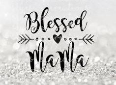 blessed mama mom svg cutting file by skyenelsoncreations on Etsy