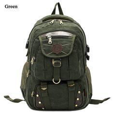 Canvas Travel Hiking Backpacks for Men Rucksack School Student Laptop Luggage Bag