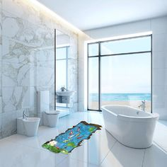 White Tile Bathroom for Luxury Master Bathroom Design Ideas Beach House Bathroom, Small Bathroom, Shower Bathroom, Modern White Bathroom, Bathroom Marble, White Bathrooms, Bath Tiles, Modern Bathrooms, Master Bathrooms