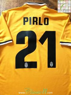Official Nike Juventus away player issue football shirt from the 2013/2014 season. Complete with Pirlo #21 on the back of the shirt and Scudetto shield on the chest.