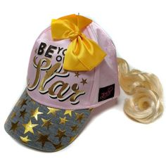 428b17f035b Nickelodeon Little Girls JoJo Siwa Collection Pink Cap w Ponytail and Bow