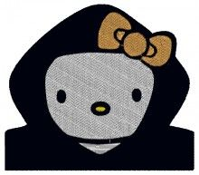 Hood Boy Kitty Embroidery Design - Machine Embroidery Designs