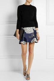 Michael van der HamSilk-jacquard mini skirt