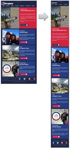 Responsive email design from Berghaus