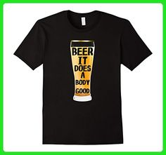 Mens Beer It Does A Body Good Fashion Novelty T-Shirt Large Black - Food and drink shirts (*Amazon Partner-Link)