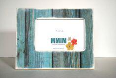 4 x 6 Beach House Wood Picture Frame  Nautical Frame by Mmim, $23.00