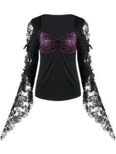 RoseGal.com - RoseGal Lace Insert Bandeau T shirt - AdoreWe.com
