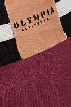 Olympia Activewear - Delta Stretch-jersey Leggings - Brick -