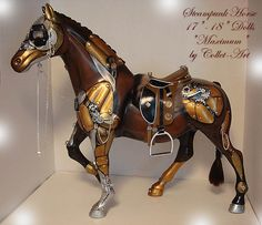 """STEAMPUNK HORSE FOR EVANGELINE GHASTLY AND OTHER 17-18"""" DOLLS - OOAK BY COLLET-ART by collet-art, via Flickr"""