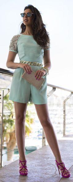 Mint Romper Classy Style by 1sillaparamibolso