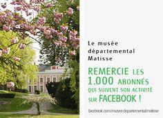 Merci à tous ! 1000 abonnés sur notre page Facebook Matisse, Museum Architecture, Facebook, Plants, Thanks, Henri Matisse, Plant, Planets