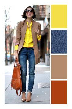 13 prendas que toda mamá debería tener en su guardarropa Colour Combinations Fashion, Color Combinations For Clothes, Color Blocking Outfits, Fashion Colours, Colorful Fashion, Mode Outfits, Casual Outfits, Fashion Outfits, Womens Fashion