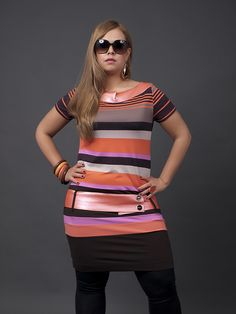 I love this dress with the leggings.