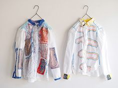 "Zvláštní Pozvánka na ""Iris Gakuen Nui (Nui) projekt košile výstavy"" Diy Tops, Embroidered Clothes, Textile Fabrics, Diy Embroidery, Fabric Art, Colorful Fashion, Camilla, Refashion, Fashion Art"