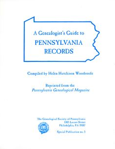Originally published in the Pennsylvania Genealogical Magazine, this…
