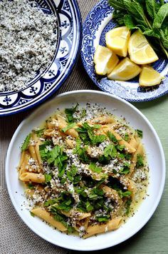 The Cutlery Chronicles: halloumi pasta with lemon and mint