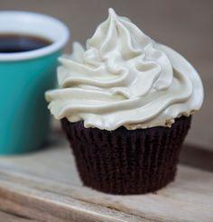 Dark Chocolate Espresso Cupcakes | youcanbakethis.com